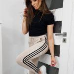 dresowe spodnie damskie o sportowym kroju