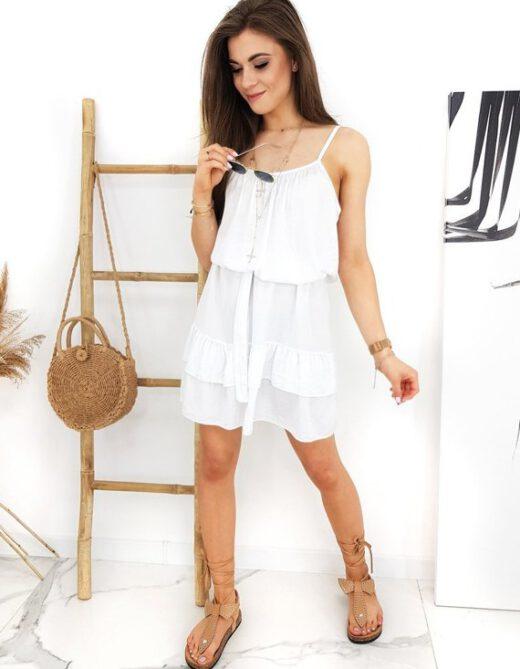 biała sukienka na lato Femine